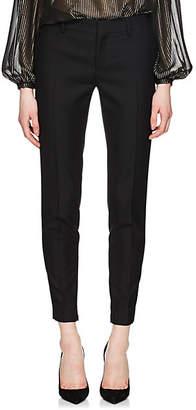 Saint Laurent Women's Wool Slim Trousers - Black