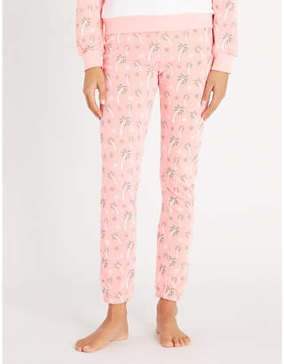 Wildfox Couture Tropical printed cotton-jersey jogging bottoms