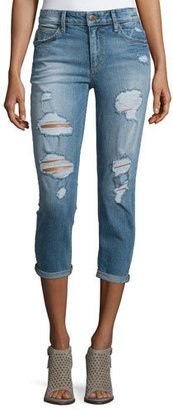 Joe's Jeans Billie Distressed Cropped Jeans, Bijou $189 thestylecure.com