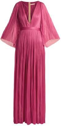 Maria Lucia Hohan Lur deep V-neck silk-tulle gown