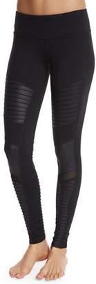 Alo Yoga Moto Full-Length Sport Leggings, Black