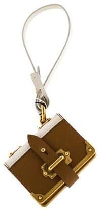 Prada Saffiano Book Keychain brown Saffiano Book Keychain