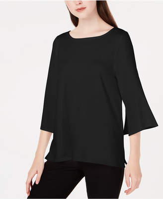 Eileen Fisher Stretch Jersey Bell-Sleeve Top
