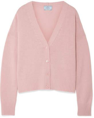 Prada - Wool And Cashmere-blend Cardigan - Pastel pink