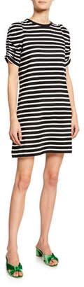 Kate Spade Sailing Striped Short-Sleeve Dress