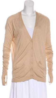 Gold Hawk Button-Up Knit Cardigan