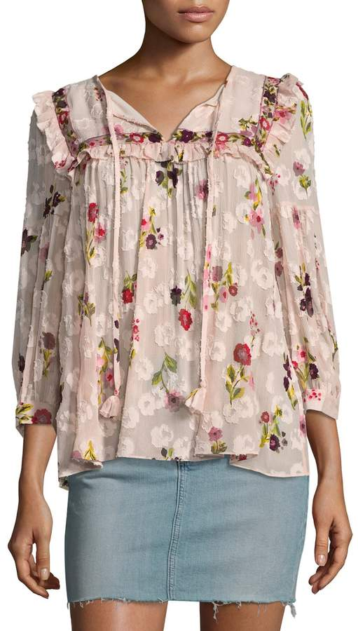 Kate Spade New York Women's In Bloom Chiffon Top