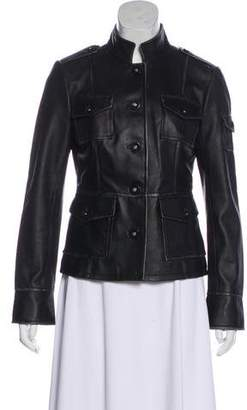 Tory Burch Utility Leather Jacket
