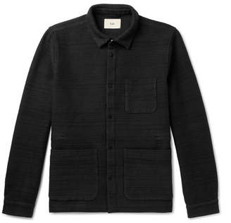 Folk Textured Cotton-Jersey Jacket - Men - Black