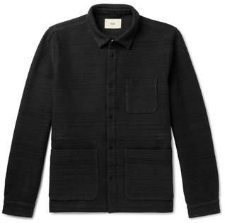Folk Textured Cotton-Jersey Jacket