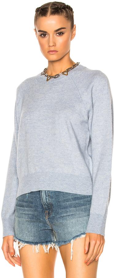 T by Alexander Wang Cashwool Crew Crop Sweater