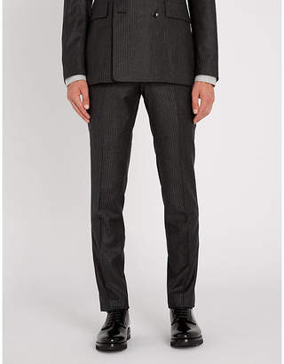 Tiger of Sweden Toivo striped slim-fit tapered stretch-wool trousers