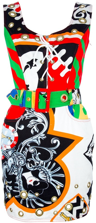Moschino Vintage printed dress