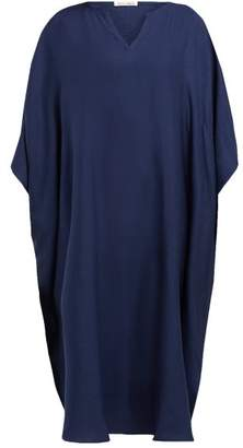 771945b967b Denis Colomb Draped Silk Kaftan - Womens - Navy