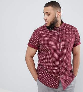 Asos Design Smart Skinny Ditsy Print Shirt In Red