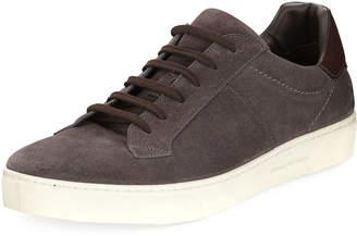Ermenegildo Zegna Vulcanizzato Men's Suede Low-Top Sneakers