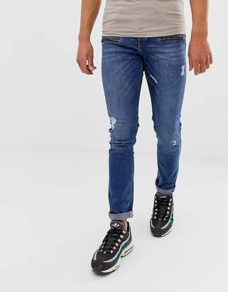 Loyalty And Faith skinny fit jeans in midwash
