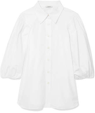 Ganni Olayan Cotton-poplin Shirt - White