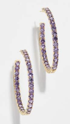 Shashi Bianca Hoop Earrings