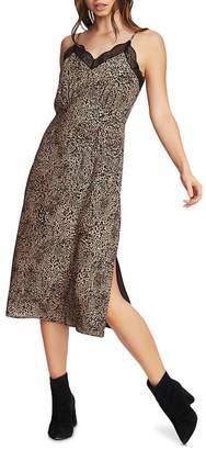 1 STATE 1.STATE Leopard Print Slip Dress