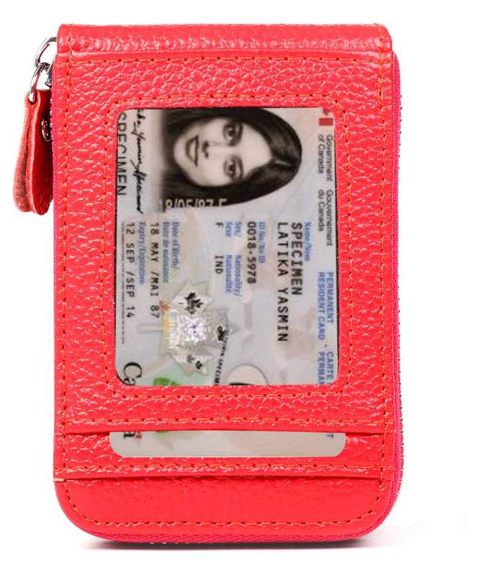 XeYOU RFID Blocking Genuine Leather Card Case Holder Security Travel Walletfor Men and Women