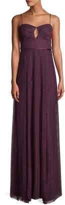 Jill Stuart Eliza Lace Slip Gown w/ Cutout Front