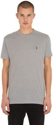 AllSaints Point Crew Striped Cotton Jersey T-Shirt