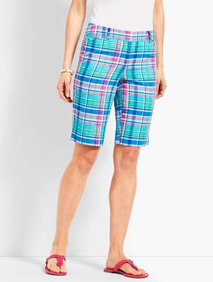 "Talbots 10 1/2"" Sea Madras Perfect Short"