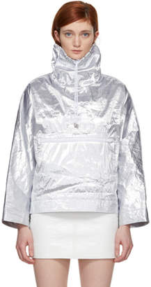 Courreges Silver Snap Sleeve Windbreaker