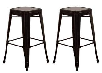 "Vogue Furniture Direct Barstool 30"" backless top mesh metal Stools BLACK (Set of 2) VF1571013"
