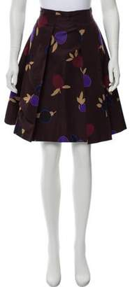Celine Printed Knee-Length Skirt Brown Printed Knee-Length Skirt