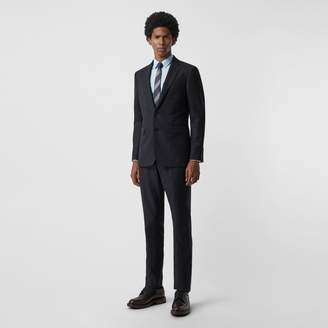 Burberry Slim Fit Birdseye Wool Suit , Size: 48R, Blue