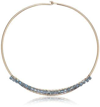 Kenneth Cole New York Mood Woven Faceted Bead Wire Collar Necklace