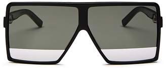 Saint Laurent Men's Flat Top Tonal Lens Square Sunglasses, 63mm