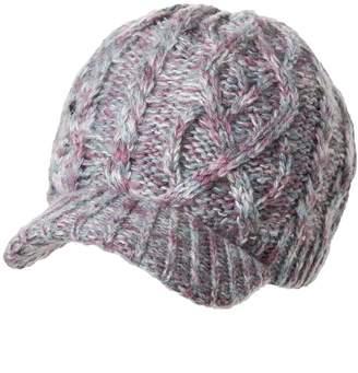 336e38583ca Siggi Thick Newsboy Jeep Cap Knit Winter Visor Beanie Hats for Women Purple  Cotton Lined
