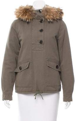 Yves Salomon Army by Fur-Trimmed Utility Jacket