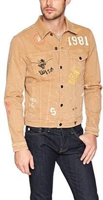 GUESS Men's Dillon Denim Jacket Graffiti