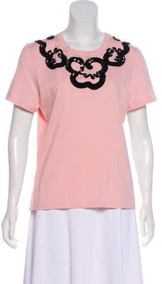 Marc by Marc Jacobs Embellished Scoop Neck T-Shirt