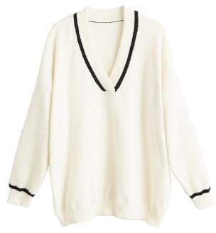 MANGO Contrasting stripe knitted sweater