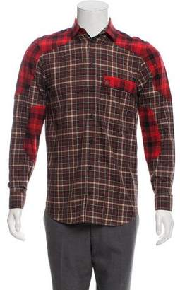 Givenchy Plaid Button-Up Shirt