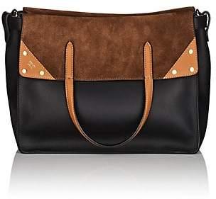 Fendi Women's Flip Small Leather & Suede Tote Bag - Black