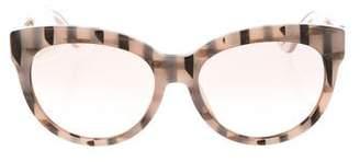 Gucci Reflective Cat-Eye Sunglasses