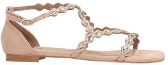 Bibi Lou Nude Suede Flat Sandals
