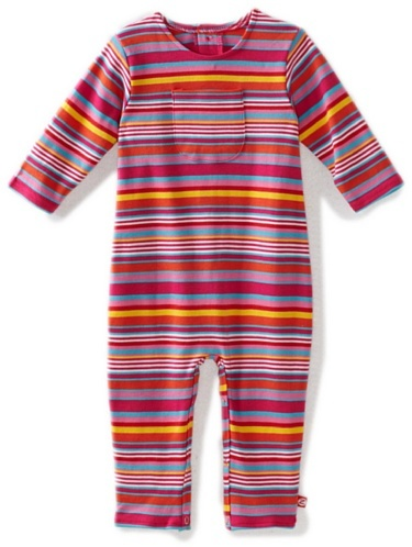 Zutano Baby-girls Infant Multi Stripe Coverall