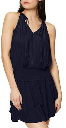 Ramy Brook Rubie Sleeveless Smocked-Waist Mini Dress