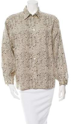 Missoni Printed Button-Up Top