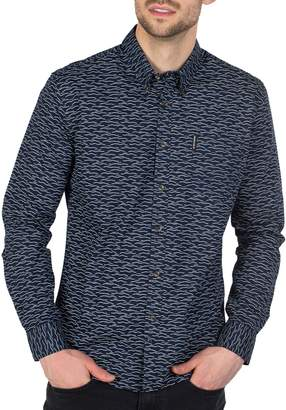 Ben Sherman Printed Long-Sleeve Button-Down Shirt