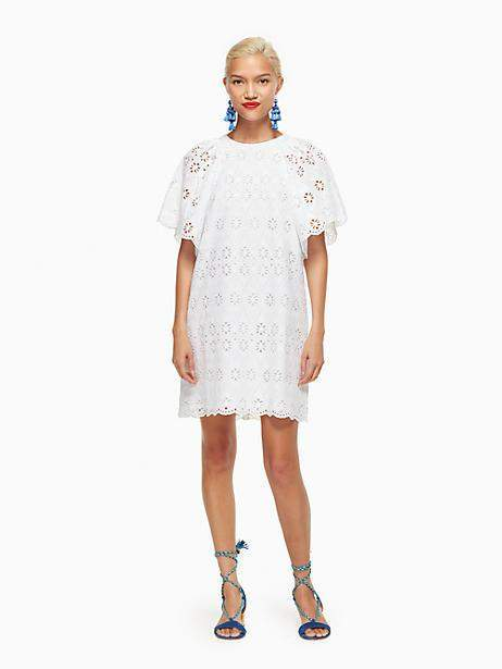 Kate Spade Eyelet shift dress