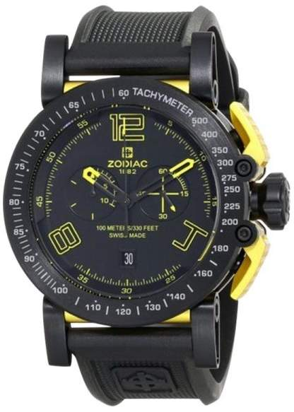 Zodiac ZMX ZO8555 Racer Analog Display Swiss Quartz Black Mens Watch