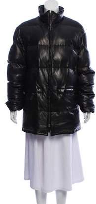 Ralph Lauren Purple Label Leather Puffer Coat